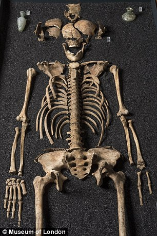 Among the skeletons were those from north Africa, including a young girl (pictured)
