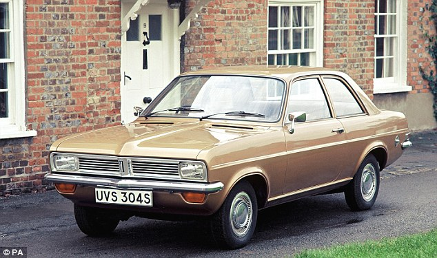 Many of the vehicles which are now popular were once just viewed as the practical family cars like this 1975 Vauxhall Viva