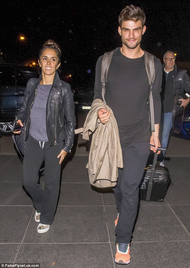 Stroll to Strictly: The pair looked equally laid-back as they arrived at the hotel on Thursday night, looking calm before the storm hit