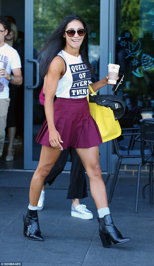 Dance wars! Karen Hauer looked ready for battle as she flaunted her tanned and toned legs while leaving her London hotel on Friday morning ahead of the Strictly Come Dancing debut