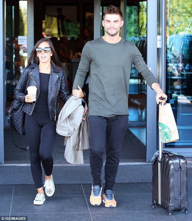 Dancing duo: Loved-up couple Janette Manrara and  Aljaz Skorjanec looked stylish in matching ensembles as they left the hotel arm-in-arm