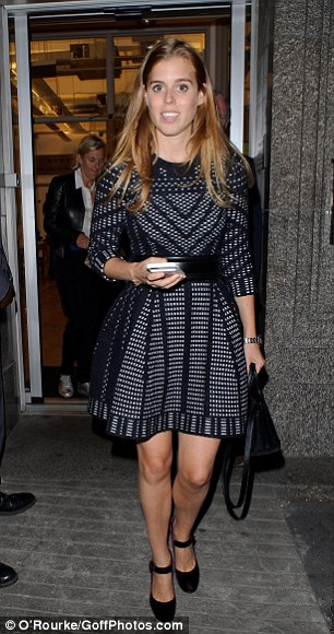 Princess Beatrice and her sister both attended the event in London's Soho last night