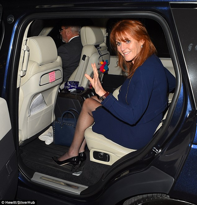 The Duchess of York Sarah Ferguson after she spoke about her split from Prince Andrew
