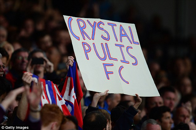 Palace fans show their appreciation for the man who has spent nearly 10 years in the top flight