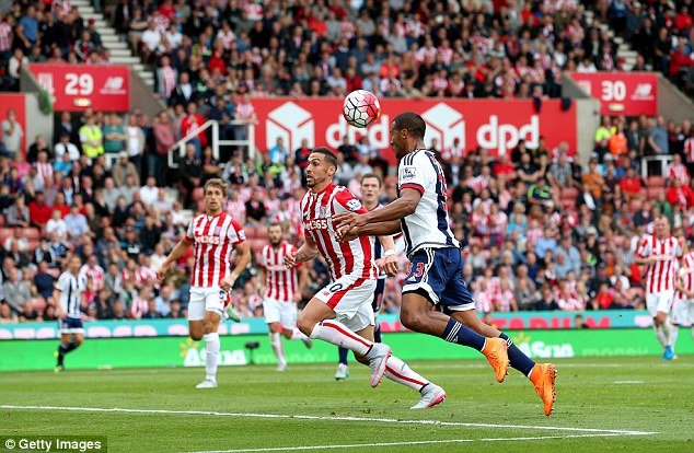 Salomon Rondon heads the winning goal for West Bromwich Albion in their 1-0 win at Stoke City in last season's August Premier League clash