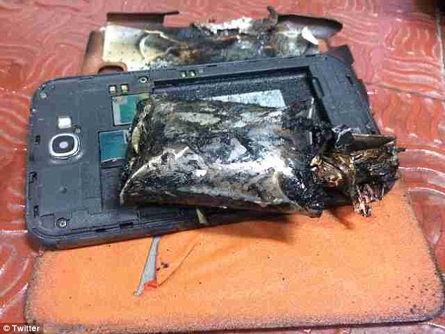 A Samsung Galaxy Note 2 phone is believed to have emitted smoke on board a passenger jet from Singapore to India this morning