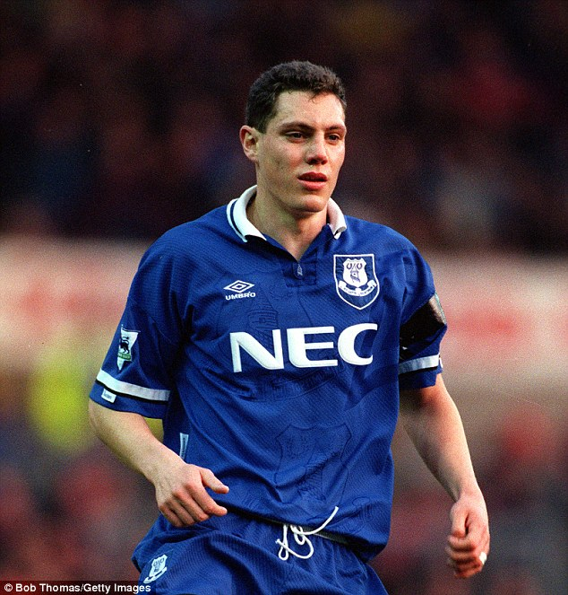 Brett Angell looked out of his depth during his time at Goodison Park