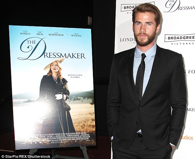 'Proud to be a part of Australian film:' Australia's Liam Hemsworth promoted the U.S. release of his new Australian film The Dressmaker on Friday