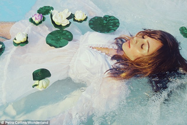 So Ophelia of her: The pinup looks like a modern version of Shakespeare's doomed character from Hamlet