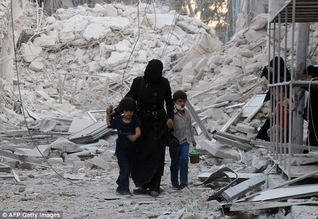 The intensity of the bombardment, which included artillery barrages and barrel bombings by helicopters, brought new misery to the estimated 250,000 civilians besieged by the army