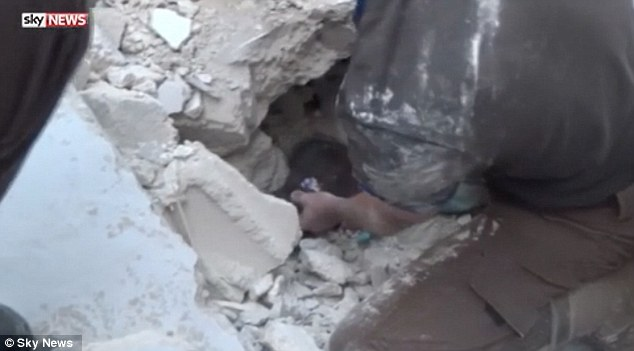 Sky News reported that the young girl was dragged from the wreckage by her ponytail