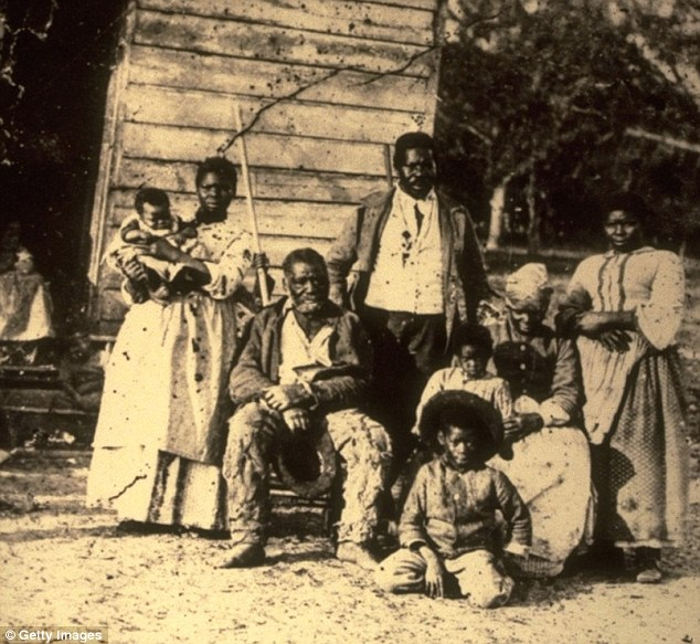 A slave family in the American south, circa 1754