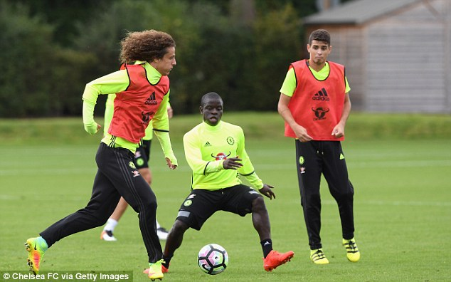 Kante (centre) has impressed since moving to Stamford Bridge from Leicester City for £32m