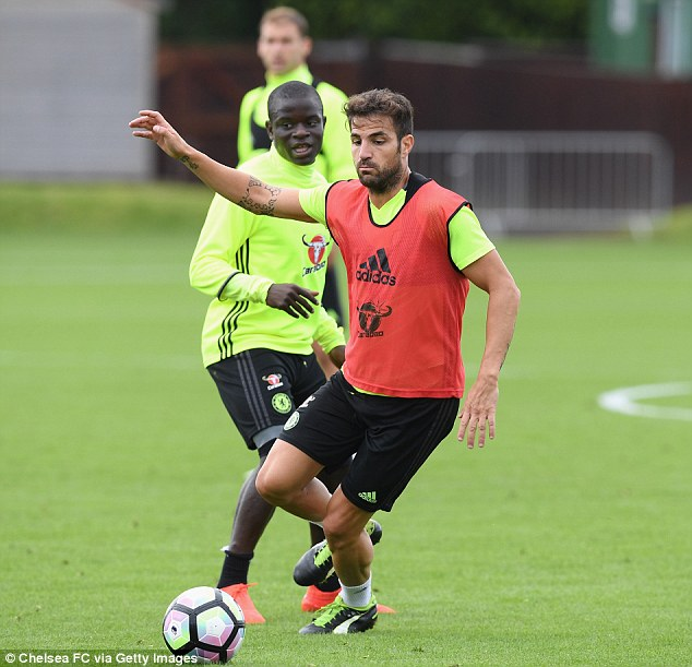 Cesc Fabregas (right) is looking to force his way into Antonio Conte's plans at Chelsea