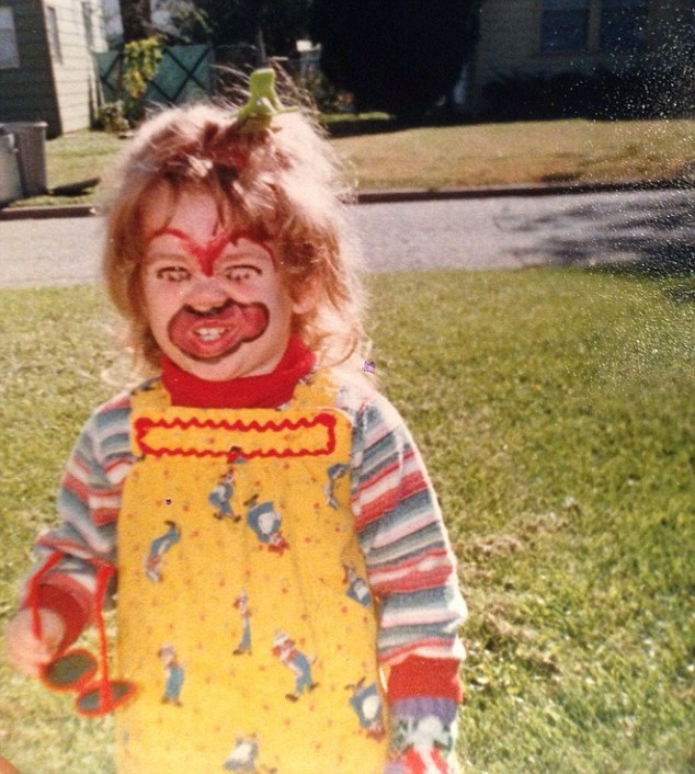 A little girl became the stuff of nightmares thanks to some garish face paint