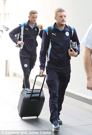 Andy King and Jamie Vardy follow their manager