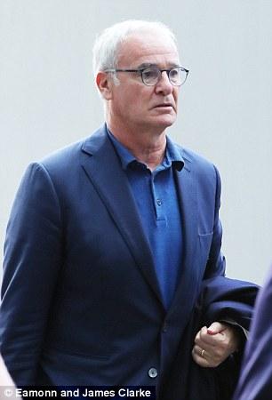 Claudio Ranierio arrives in Manchester