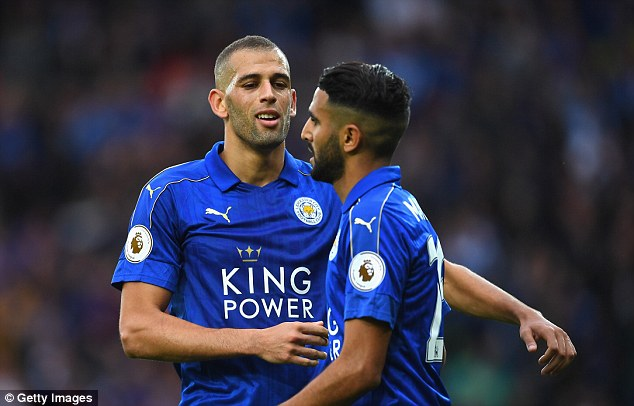 Record signingIslam Slimani (left) is in line to start after scoring a brace on his debut
