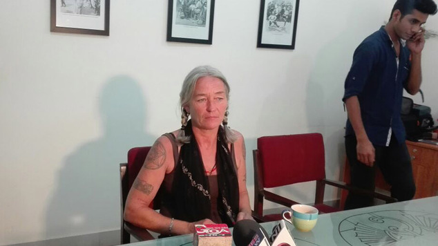 Fiona MacKeown, the mother of British schoolgirl Scarlett Keeling, at a news conference in Goa, India, where she vowed to continue fighting for justice after...