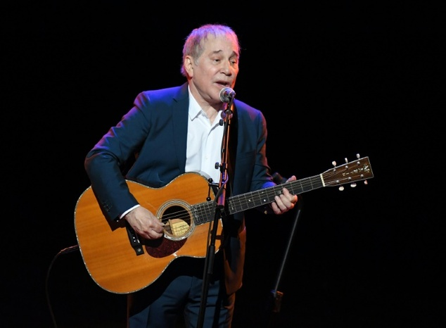 Paul Simon performs onstage during Global Citizen: The World On Stage at NYU Skirball Center in New York City