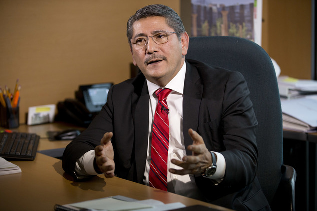 Alfredo Higuera, of the Mexican Attorney General's Office special prosecutor for the case of the 43 missing students, speaks during an interview in Mexico Ci...