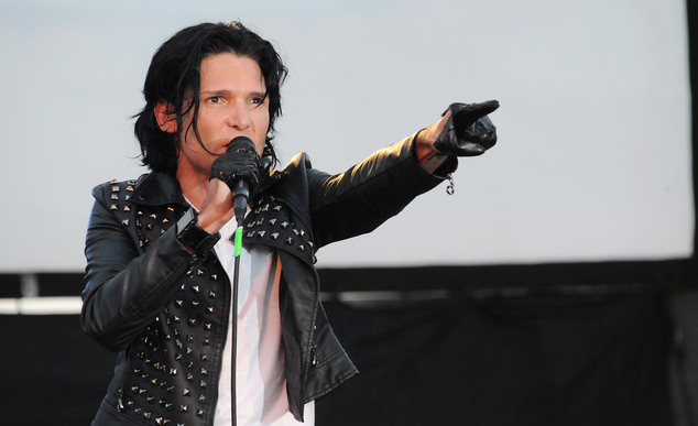 FILE - In this May 25, 2013 file photo, Corey Feldman performs in Los Angeles. After being widely ridiculed for a music performance on Friday, Sept. 16, 2016...