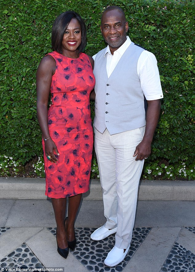 Viola Davis Joined By Husband Julius Tennon As She's