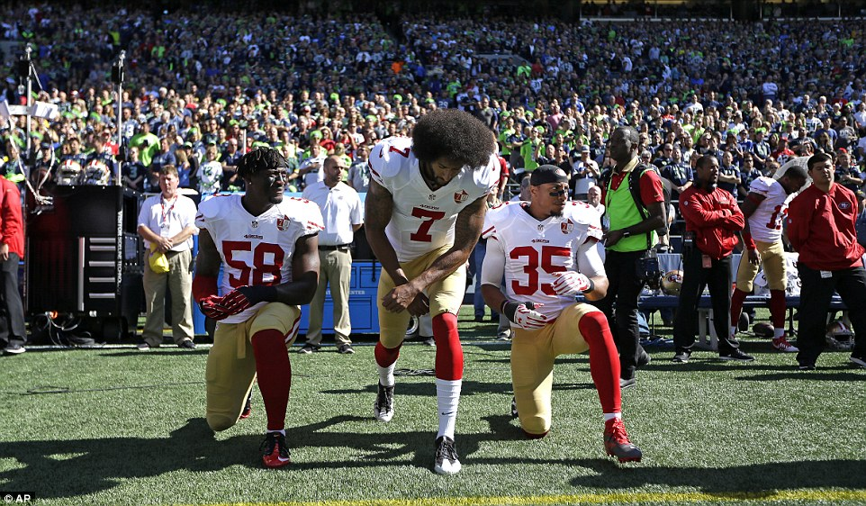 More than 40 NFL players protest before games on Sunday ...