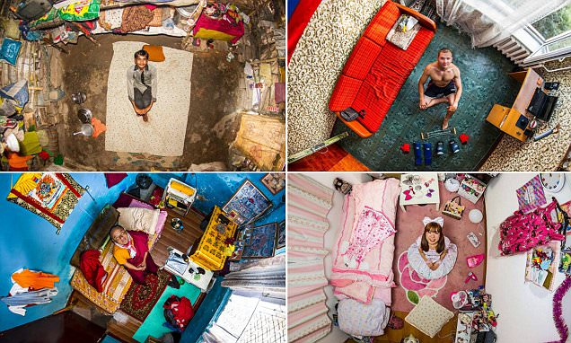 Eye-opening pictures reveal the startling contrasts of bedrooms around the world