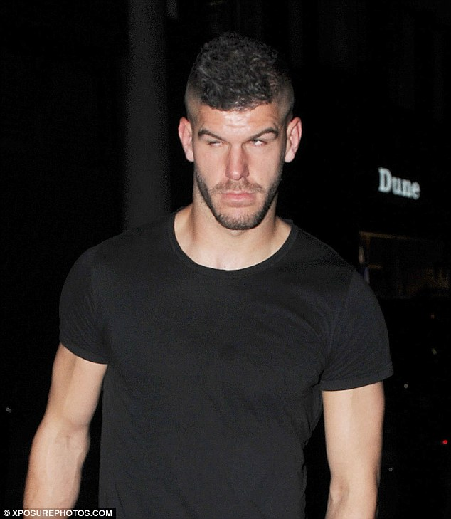 Keeper Fraser Forster looks bleary eyed as he makes his way out of the west London haunt