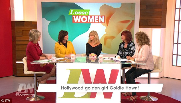 Telling all: Speaking to (l-r) Ruth Langsford, Coleen Nolan, Janet Street-Porter and Nadia Sawalha, the Oscar-winning actress opened up about her enduring romance
