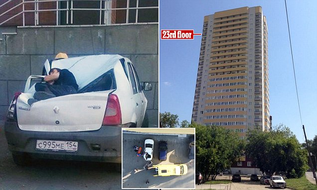 Russian boy survives falling from a 23rd storey balcony while trying to impress a girl