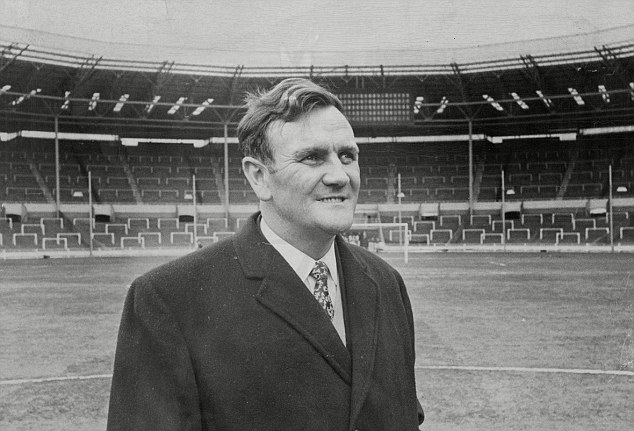 Revie is pictured at Wembley - he quit England to manage in the Middle East