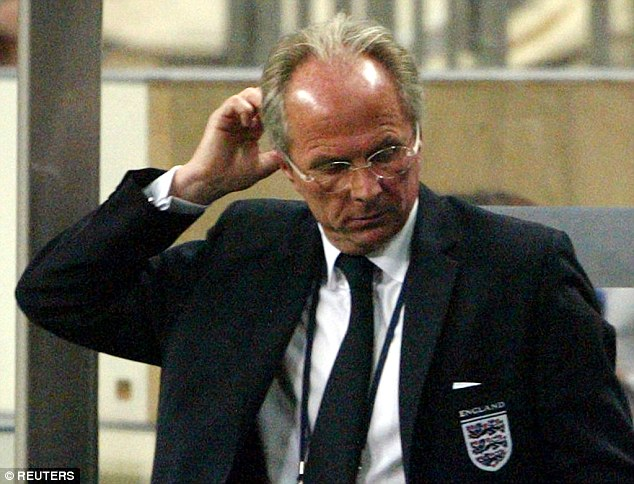Sven Goran Eriksson was another England boss to get caught up in controversy