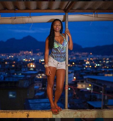 Aline, a teenage mum in the Complexo de Alemao favela in Rio de Janeiro