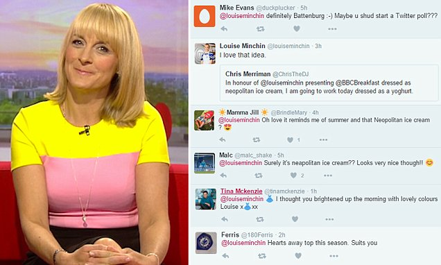 Louise Minchin's VERY colourful dress divides BBC Breakfast viewers