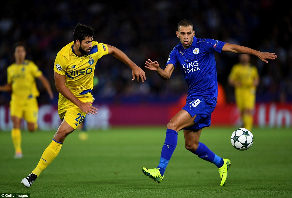 Foxes new signing Slimani (right) was known as the 'Dragon Slayer' because of his knack of scoring against Porto