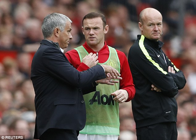 Jose Mourinho (left) made Rooney his captain and will get another chance to shine