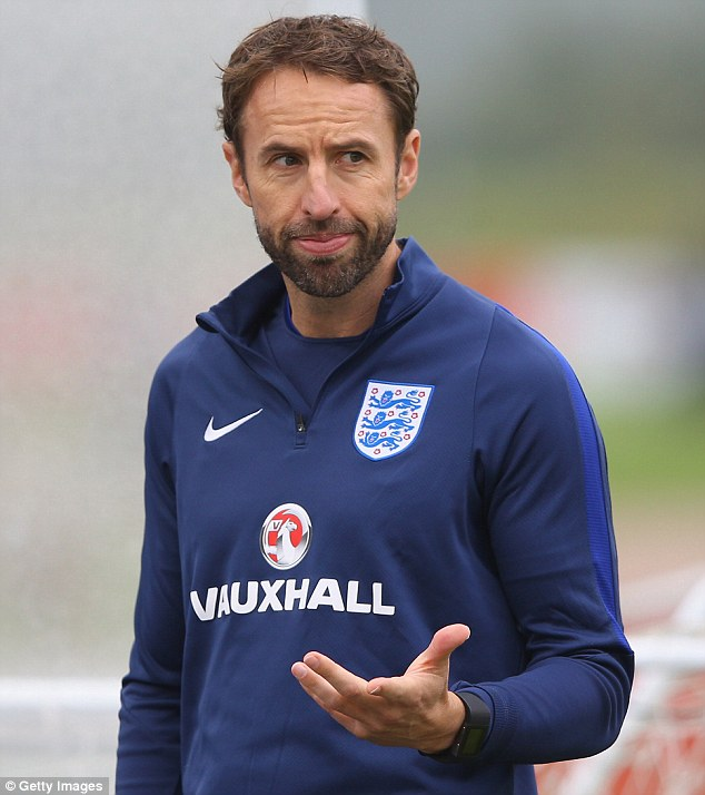 Gareth Southgate will take interim charge of England for their next four matches