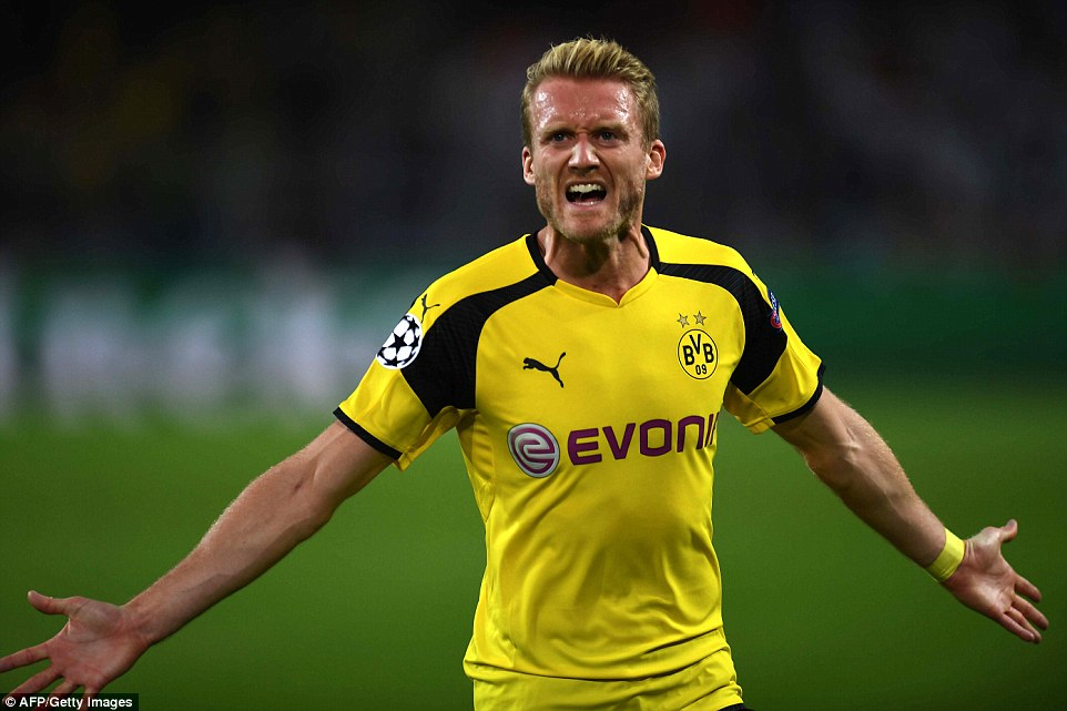 Trailing 2-1 and with just three minutes left on the clock, Andre Schurrle stunning strike secured a draw for the home side