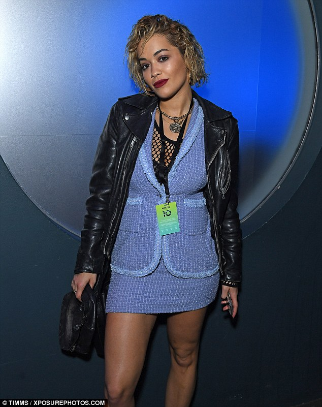 Curly suits you:Rita changed up her look once again as she hit London town