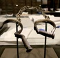 A pair of slave shackles on display in the Smithsonian's National Museum of African American History and Culture ©Chip Somodevilla (Getty/AFP/File)