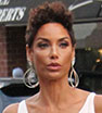 Stylish: Model Nicole Murphy sported on-trend ripped jeans as she made her way to a beauty salon in Beverly Hills