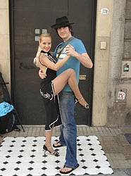 Dan Hipgrave and dancer