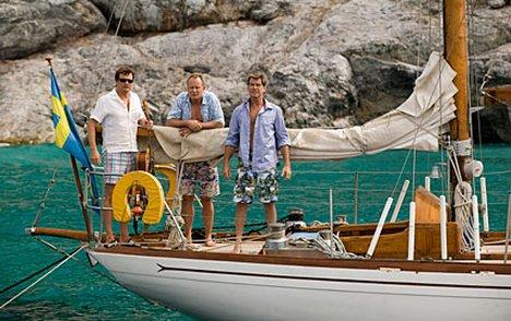 Actors on yacht