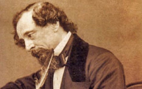 Sepia image of Charles Dickens