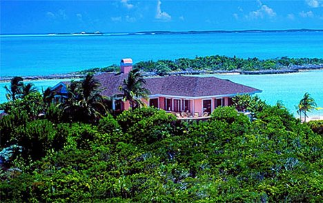 There are half a dozen comfortable villas to rent on the island