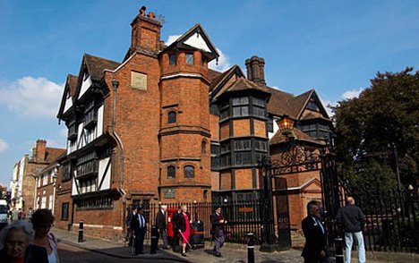 Eastgate House, a red-brick Elizabethan mansion in Rochester