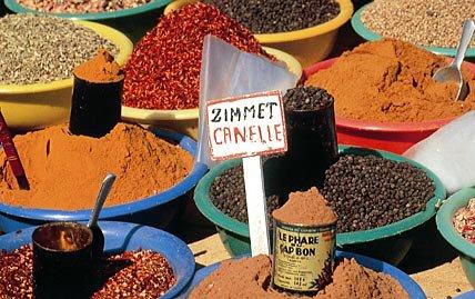 An array of Tunisian spices