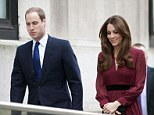 Happy couple: The Duke and Duchess of Cambridge arrive at the National Portrait Gallery in London last Friday